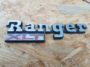 1983 1988 Ford Ranger Ranger Xlt Fender Emblem Badge Decal Chrome Oem