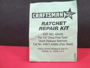 Craftsman Ratchet Repair Kit 43446 For 1 2 Ratchet 44977 44983 Usa Made