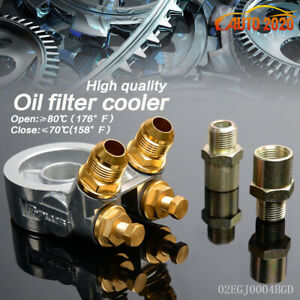 Universal Aluminum Oil Filter Cooler Adapter Sandwich An10 Fitting Turbo Plate