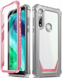 Poetic Shockproof Case For Moto G Fast Cover with Screen Protector Pink $16.85