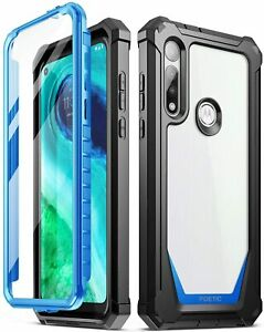 Poetic Shockproof Case For Moto G Fast Cover with Screen Protector Blue $16.85