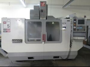 Used Haas Vf 5 Cnc Vertical Machining Center Mill Bt40 4th Ready Side Mount 2004