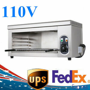 Us 2000w Cheese Melter Electric Salamander Broiler Restaurant Catering Machine