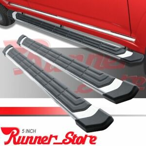 Fit 2019 2021 Chevy Silverado Crew Cab 5 Nerf Bar Side Step Running Boards Fr