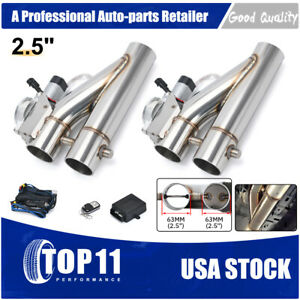 2in1 2 5 Electric Exhaust Downpipe E cutout Cut Out Dual Valve Remote Wireless