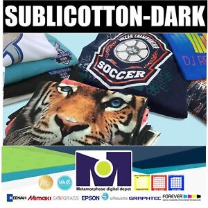 Sublicotton dark Heat Transfer Paper 5 Sh 8 5 x11 Made In Usa Free Delivery