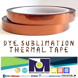 2rolls Heat Resistant Tapes Sublimation Press Transfer Thermal Tape 10mm 30m