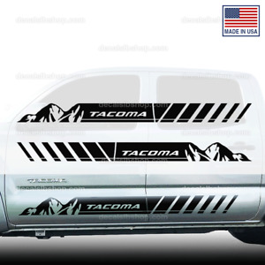 Tacoma Mountain Side Door Trd Toyota Truck Decals Sticker Graphics Stripes W4t