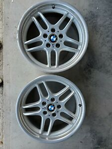 Bmw 18 Genuine M Parallel Oem Factory Front Wheels For E38 7 Series 1995 2001