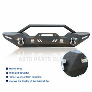 Front Bumper For Jeep Wrangler Jk 07 18 Protector Guard Assembly Textured Black