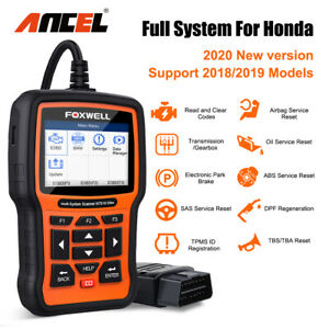 For Honda Acura Obd2 Scan Tpms Engine Sas Epb Dpf Abs Oil Reset Diagnostic Tool