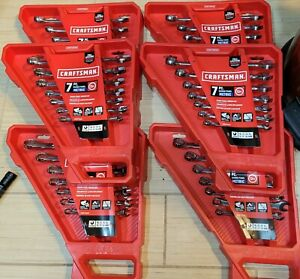 Lot Of 6 Sets Craftsman 7 Piece 12 Point Metric Standard Combination Wrench Set