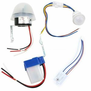 Automatic Lamp Photocell Light Controller Photoswitch Pir Sensor Detector Switch
