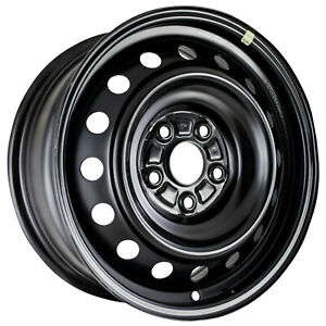 New 16x6 5 Steel Wheel 16 Vent Black Full Face Painted