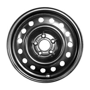 New 16x6 5 Steel Wheel 15 Vents Black Full Face Painted