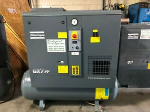 2017 Atlas Copco Gx7ff 10hp Rotary Screw Air Compressor With Dryer