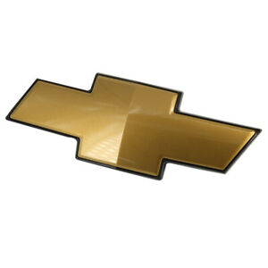 Oem Front Black Gold Grille Bowtie Emblem For Chevy Avalanche Suburban Tahoe