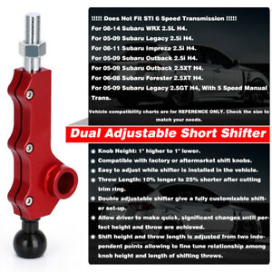 Bk Short Throw Shifter Quick Shift For 08 14 Wrx Forester Outback Impreza Legacy