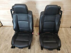 07 13 Oem Bmw E93 Convertible Front Left Right Heated Leather Sport Seats Black