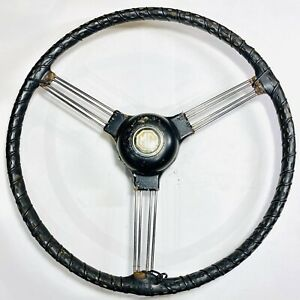 1950s Mg Td Steering Wheel Leather 500 Sport Grip For Parts
