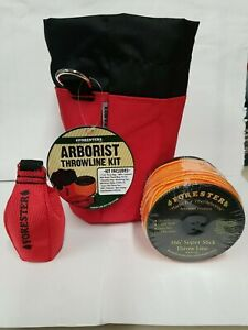 Forestry Arborist Professional Throwline Kit With Bag 15oz Throw Bag And Line