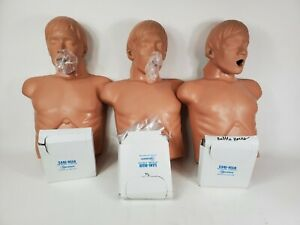 Lot 3x Simulaids Brad Full Body Training Nursing Cpr Mannequin Manikin With Lung