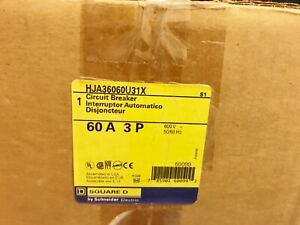 One 1 New In Box Square D Hja36060u31x 60a Circuit Breaker 3p 600v Best Price