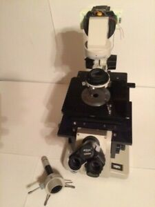 Nikon Diaphot Inverted Fluorescence Phase Contrast Microscope