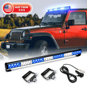 31 5 Emergency Strobe Light Bar Flash Led Snow Plow Lights Traffic Advisor Blue
