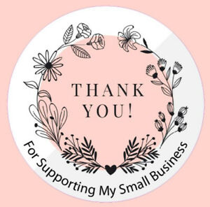Round Thank You For Supporting My Small Business Logo Round Stickers Labels 3a
