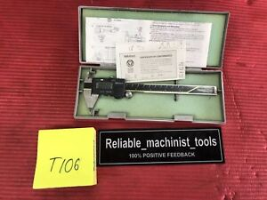 Excellent Mitutoyo Japan 6 Inch Pointy Digital Caliper machinist Tool T106