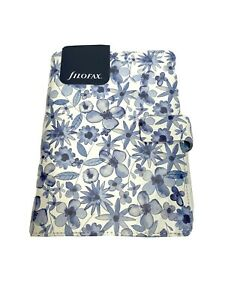 Filofax Indigo Floral Personal Organizer Planner Blue And White 2018 Flowers