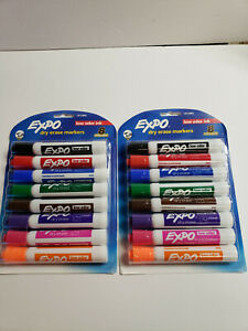 Lot Of 2 Expo Dry Erase Markers Assorted Colors 8 Pack New Unopened