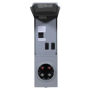 Meter Socket Temporary Power 100 Amp 3 circuit 1 space with Gpi U ground