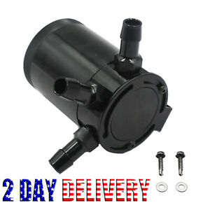 3 port Universal Oil Catch can tank reservoir Air oil Separator Racing Baffled