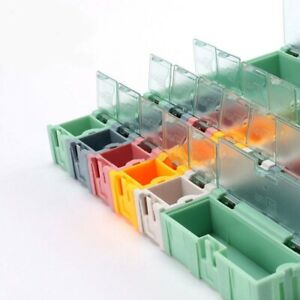 Mini Colored Plastic Storage Boxes Object Electronic Component Smd Kit Assembly