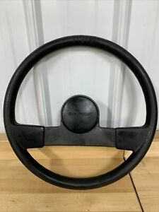 1990 1991 Chevy S10 Factory Black 2 Spoke 16 Steering Wheel Nice Oem Part