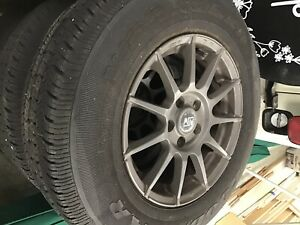 4 16 Inch 5 Lug Rims Black With Goodyear Tires With Sensors