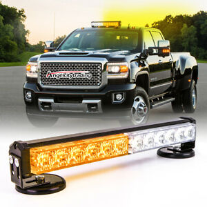 Strobe Light Bar Roof Amber Beacon Led Emergency Flash Traffic Advisor 12 4