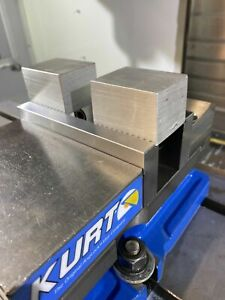 Machinable 1018 Serrated Kurt Vise Jaws