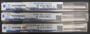 102681 3 Sumitomo Electric Gs Style Drill Bits new Sealed
