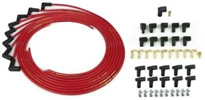 Taylor Spark Plug Wires Red Universal Cut 90 Boot Chevy Ford Dodge Amc Pontiac