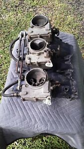 Cadillac Tri Power Intake Manifold With Carbs And Linkage 1958 59 60