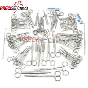 76 Pcs Canine feline Spay Pack Veterinary Surgical Instruments Ds 1370