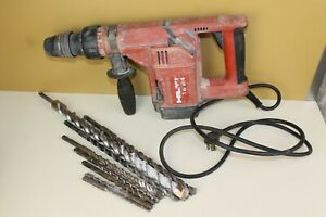 Hilti Te24 Corded Rotary Hammer Drill With 8 Bits Works loc he