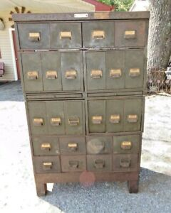 Vintage Large Industrial Drawer Parts Cabinet Machine Shop Storage Steampunk