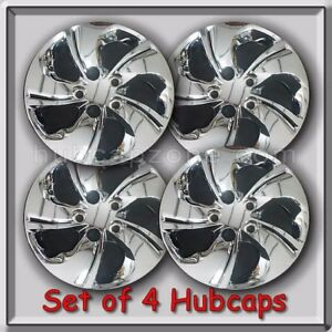 15 Chrome Bolt On Honda Civic Hubcaps 2013 2015 Wheel Covers Set Of 4