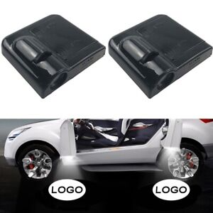 2 Pcs Wireless Led Car Door Logo Projector Courtesy Ghost Puddle Light Fits Bmw