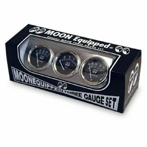 Moon Equipped 3 Gauges Set Mooneyes Good For Car And Trucks Classic Look