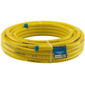 Home flex Tubing 3 4 In Csst X 75 Ft Corrugated Stainless Steel Flexible